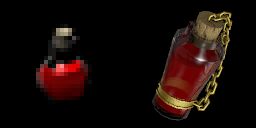 old vs. new health potion